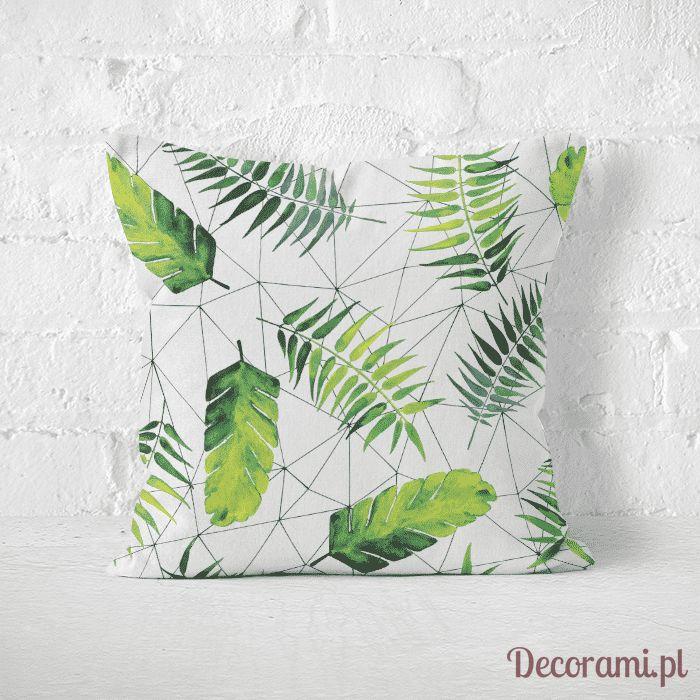 Poduszka w zielone liście urban jungle